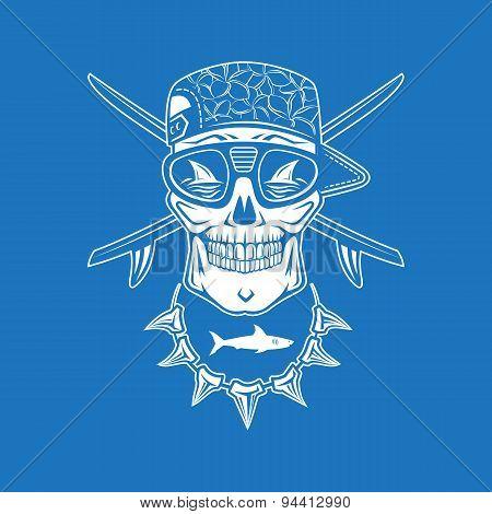 Surfing Skull
