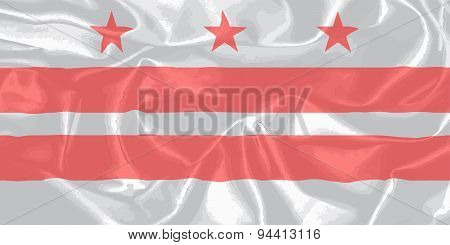 Washington Dc State Silk Flag