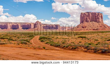 Rock Formations Near Monument Valley