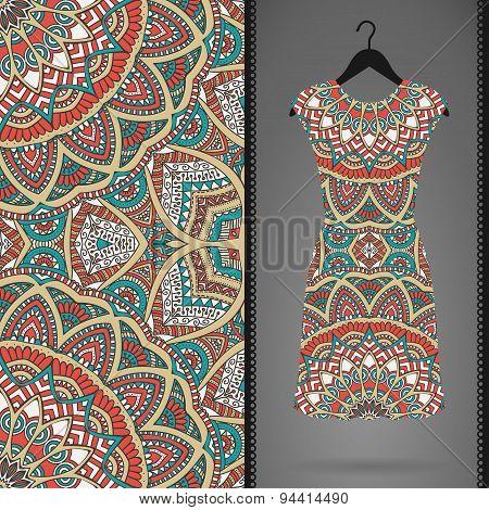 Seamless pattern with dress
