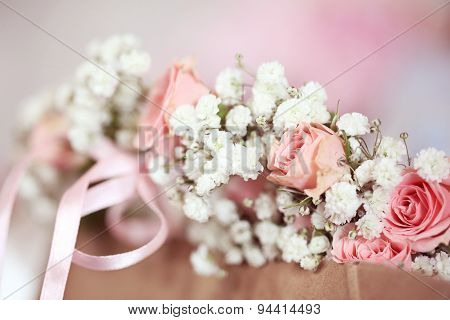 Roses And Gypsophila