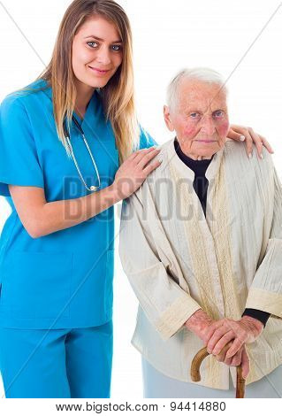 Doctor And Senior Patient Together