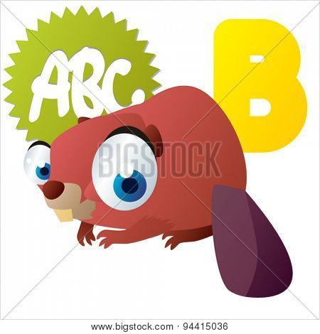 animal children alphabet: B is for Beaver