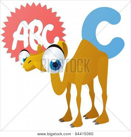 animal children alphabet: C is for Camel