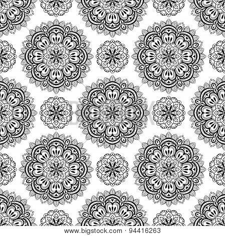 Seamless Background With Mandalas.