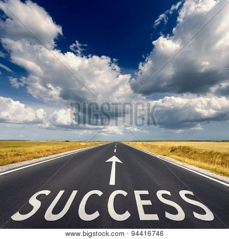 Road Business Concept For The Success