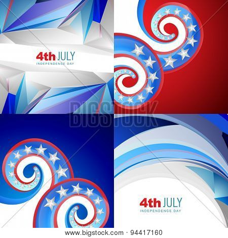 vector set of american flag abstract background with creative illustration