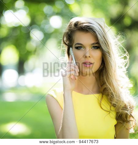 Sensual Girl Speaking On Phone