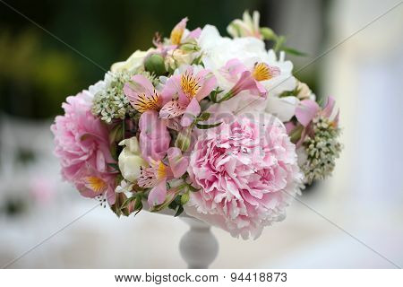 Decorative Bouquet Of Peony Flowers