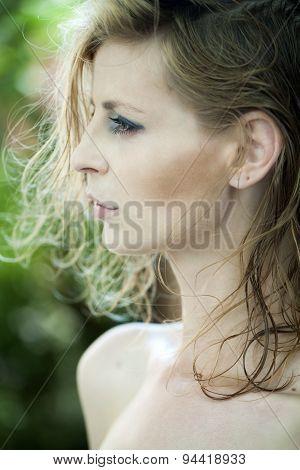 Slender Woman Portrait