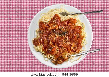 Spaghetti With Tomatoe Sauce