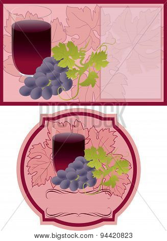 Vector Labels For Grape Juice.