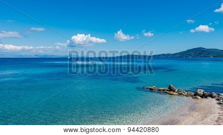 Beach of Agios Ioannis Peristeron Corfu Kerkyra.