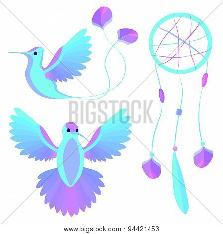 Bird wings decorative elements
