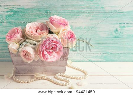 Sweet Pink Roses In Box