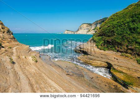 View of Cape Drastis on Corfu