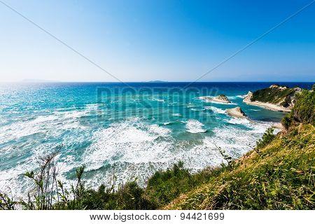 white rocks in the sea near Cape Drastis