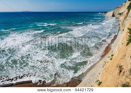 Logas Sunset beach Perulades on Corfu