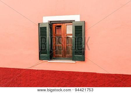 window on traditional greek house