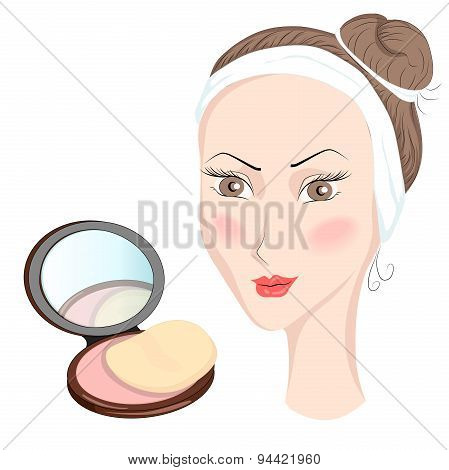 Girl with make up
