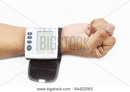 Blood Pressure On Patient Wrist