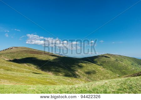 Cloud Shadows On The Green Fields Of Spring Mountains
