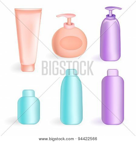 Set tube and jars in color