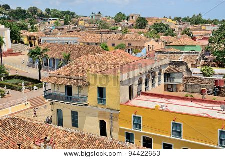 Roofs of houses in Trinidad, Cuba