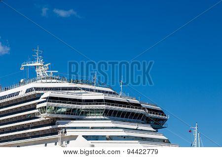Captains Bridge On Luxury Cruise Ship