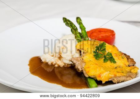 Pork Cutlet With Asparagus And Potatoes