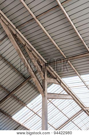 Steel Frame Of Modern Roof