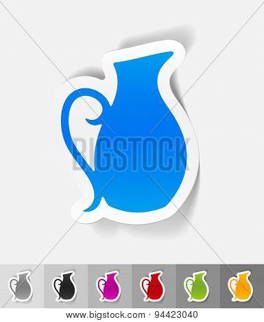 realistic design element. jug