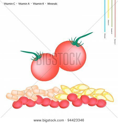 Fresh Cherry Tomatoes With Vitamin C, A And K