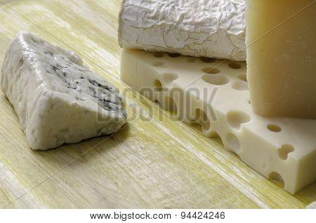 Spanish Manchego Cheese, Goat, Gruyere, Gorgonzola.