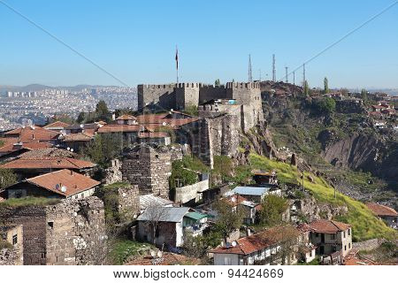 Ak-Kala fortress on the hill Hissar. Ankara. Turkey.