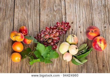 Variation Of Fresh Fruits, Top View