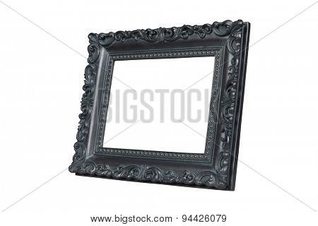 Vintage picture frame isolated over white with clipping path.