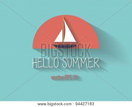 Summer Yacht logo background