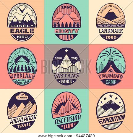 Mountain badge set2color1