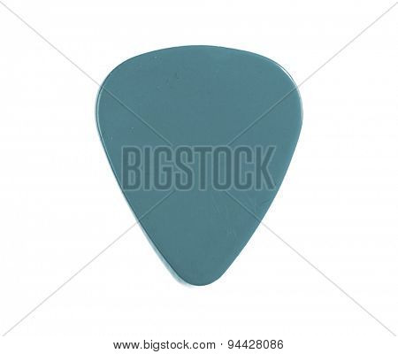 Guitar pick blue isolated on a white background