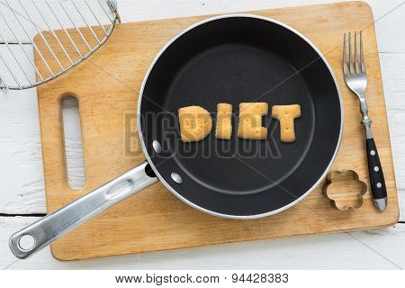 Alphabet Crackers Word Diet Putting In Pan