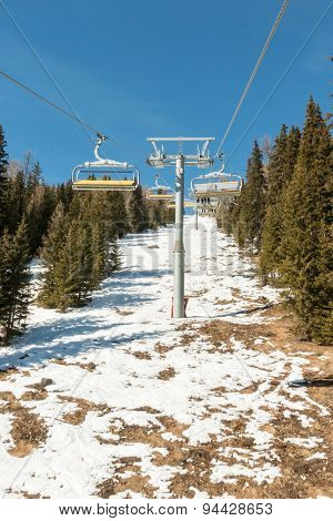 Mountain Ski Chair Lift Ropeway