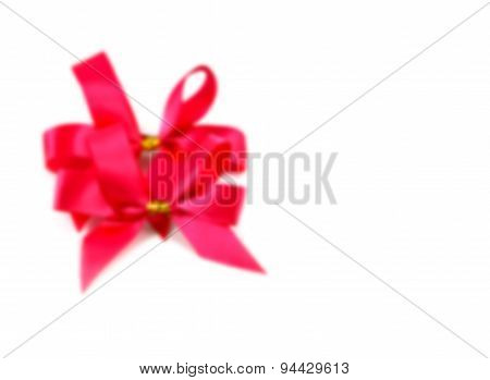 Abstract Blurred Ribbon Bow On White Background