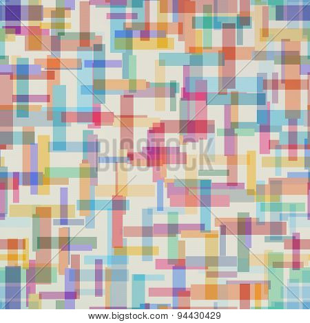 Colorful abstract pattern from rectangle shape. Vector illustration