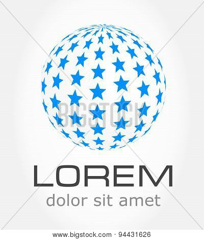 Abstract globe - symbol
