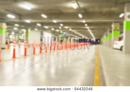 Abstract Blurred Parking Lot