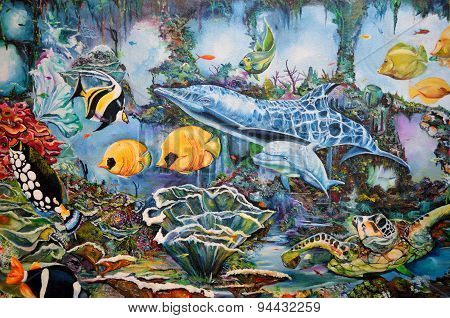 Aquatic life Wall Mural