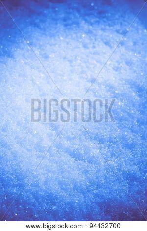 Toned Macro Of Snow