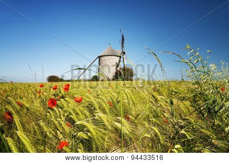 Windmill In Pontorson