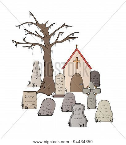 Cemetery With Graves